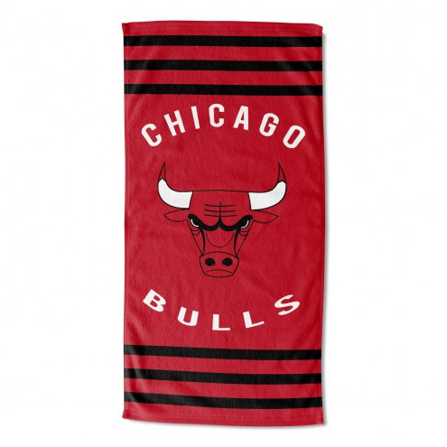 Chicago Bulls Stripes Beach Towel