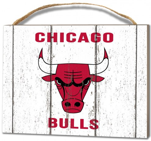 Chicago Bulls Weathered Logo Small Plaque