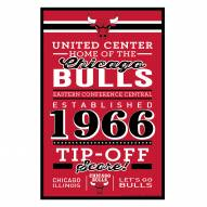 Chicago Bulls Established Wood Sign