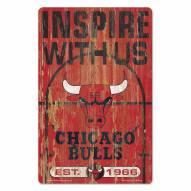 Chicago Bulls Slogan Wood Sign