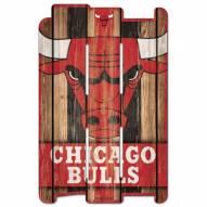 Chicago Bulls Wood Fence Sign