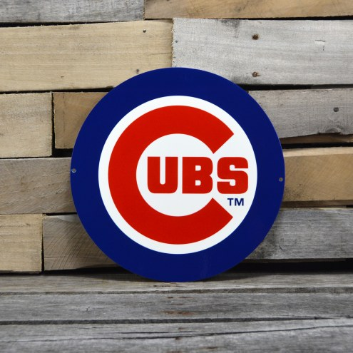 "Chicago Cubs 12"" Steel Logo Sign"