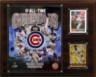 """Chicago Cubs 12"""" x 15"""" All-Time Great Photo Plaque"""