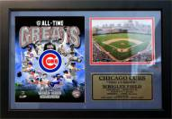 """Chicago Cubs 12"""" x 18"""" Greats Photo Stat Frame"""