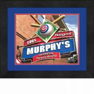 Chicago Cubs 13 x 16 Personalized Framed Sports Pub Print