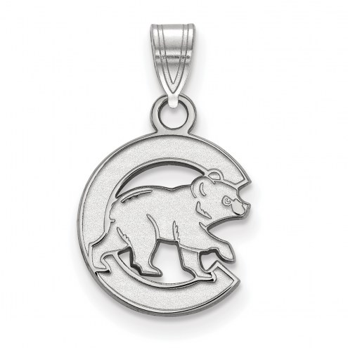 Chicago Cubs 14k White Gold Small Pendant