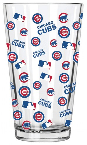 Chicago Cubs 16 oz. All Over Print Pint Glass