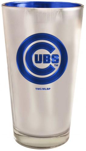 Chicago Cubs 16 oz. Electroplated Pint Glass