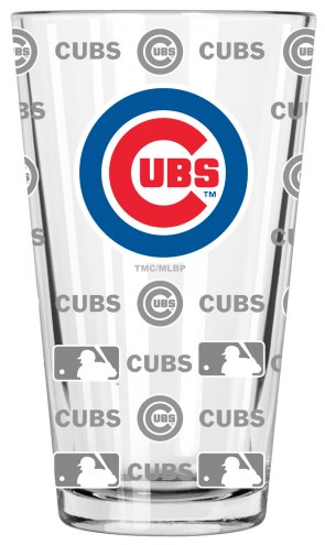 Chicago Cubs 16 oz. Sandblasted Pint Glass