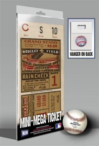 Chicago Cubs 1929 World Series Mini Mega Ticket