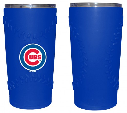 Chicago Cubs 20 oz. Stainless Steel Tumbler with Silicone Wrap