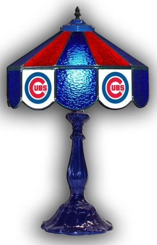 "Chicago Cubs 21"" Glass Table Lamp"