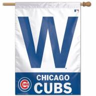 """Chicago Cubs 27"""" x 37"""" """"W"""" Banner"""
