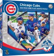 Chicago Cubs 500 Piece Home Plate Shaped Puzzle