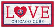 """Chicago Cubs 6"""" x 12"""" Love Sign"""