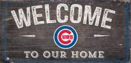 """Chicago Cubs 6"""" x 12"""" Welcome Sign"""