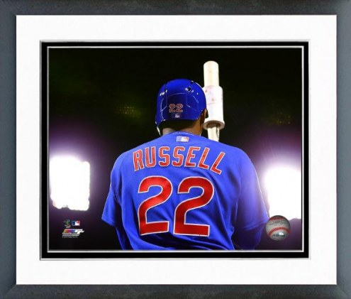 Chicago Cubs Addison Russell Action Framed Photo