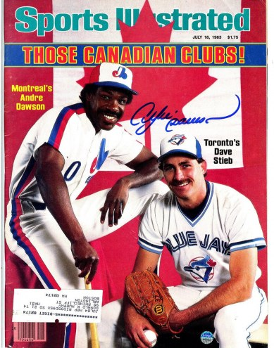 Chicago Cubs Andre Dawson Signed 7/18/83 Sports Illustrated Magazine