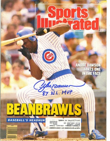 """Chicago Cubs Andre Dawson Signed 7/20/87 Sports Illustrated Magazine /w """"87 N.L M.VP"""""""