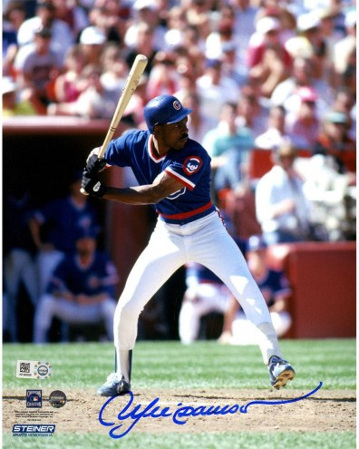 Chicago Cubs Andre Dawson Signed 'Batting' 8 x 10 Photo