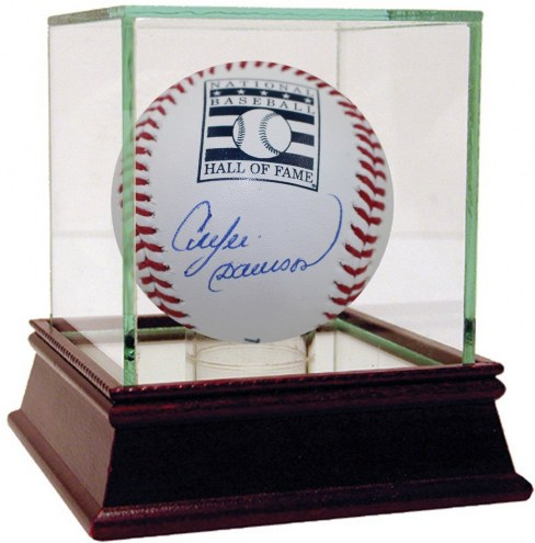 Chicago Cubs Andre Dawson Signed Hall Of Fame Logo Baseball