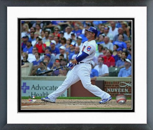 Chicago Cubs Anthony Rizzo Action Framed Photo