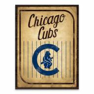 Chicago Cubs Vintage Card Printed Canvas