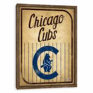 Chicago Cubs Vintage Card Recessed Box Wall Decor