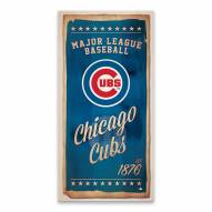 Chicago Cubs Watercolor Printed Canvas