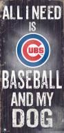 Chicago Cubs Baseball & My Dog Sign