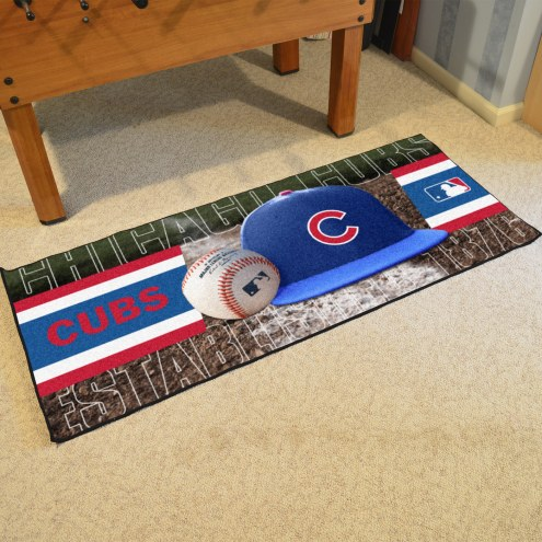 Chicago Cubs Baseball Runner Rug