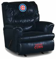 Chicago Cubs Big Daddy Blue Leather Recliner
