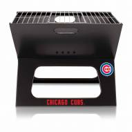 Chicago Cubs Black Portable Charcoal X-Grill