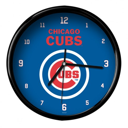 Chicago Cubs Black Rim Clock
