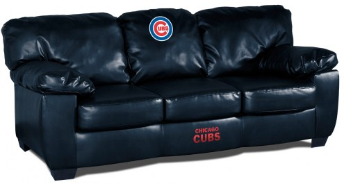 Chicago Cubs Blue Leather Classic Sofa