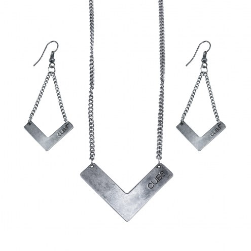 Chicago Cubs Chevron Jewelry Set