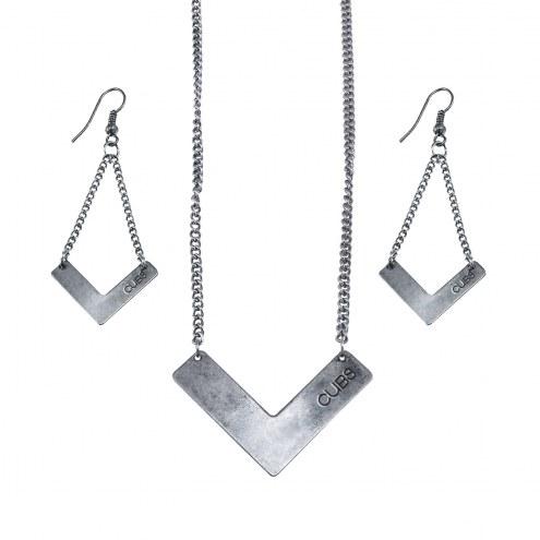Chicago Cubs Chevron Jewelry Set
