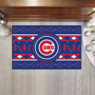 Chicago Cubs Christmas Sweater Starter Rug