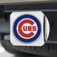 Chicago Cubs Chrome Color Hitch Cover
