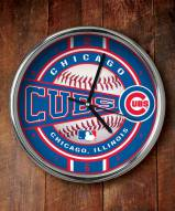 Chicago Cubs Chrome Wall Clock