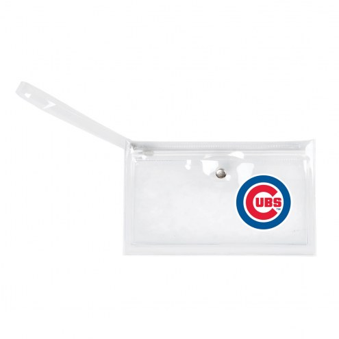 Chicago Cubs Clear Ticket Wristlet