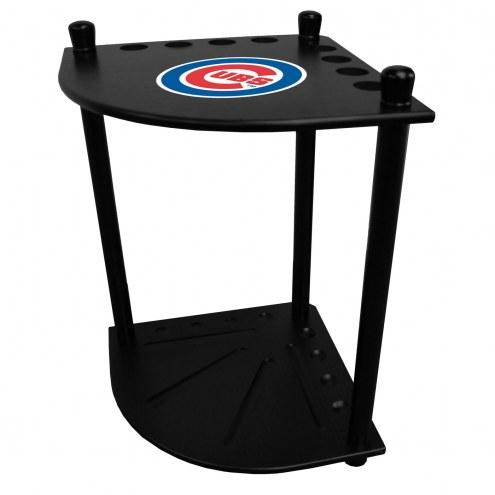 Chicago Cubs Corner Pool Cue Rack