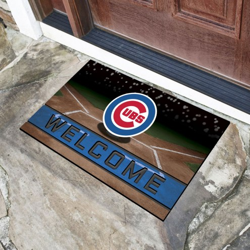 Chicago Cubs Crumb Rubber Door Mat