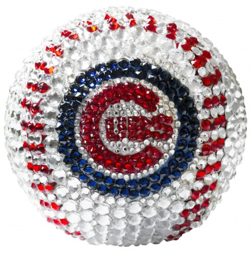 Chicago Cubs Swarovski Crystal Baseball