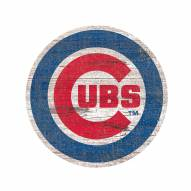 Chicago Cubs Distressed Logo Cutout Sign