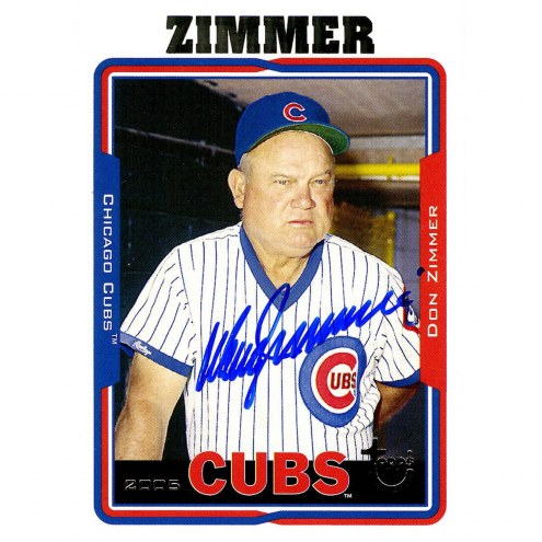 Chicago Cubs Don Zimmer Signed 2005 Topps Card