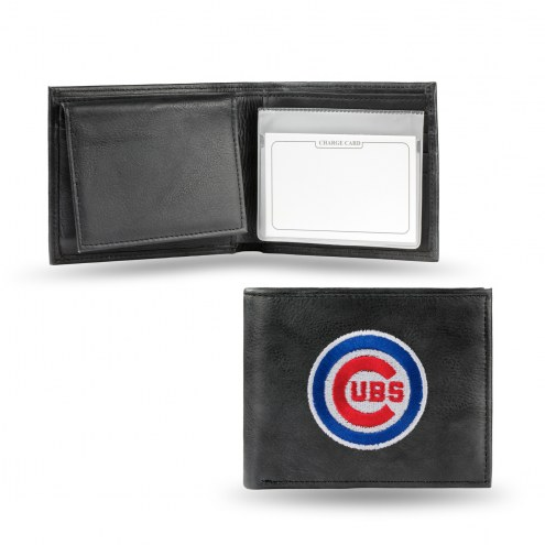 Chicago Cubs Embroidered Leather Billfold Wallet