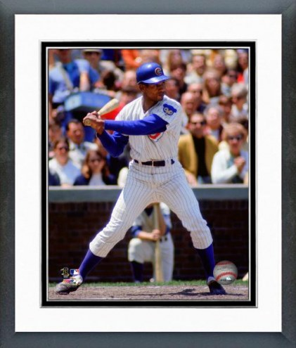 Chicago Cubs Ernie Banks Action Framed Photo
