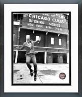 Chicago Cubs Ernie Banks at Wrigley Field Framed Photo