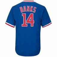 Chicago Cubs Ernie Banks Cooperstown Royal Replica Baseball Jersey